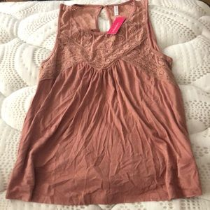 Tank top with lace top
